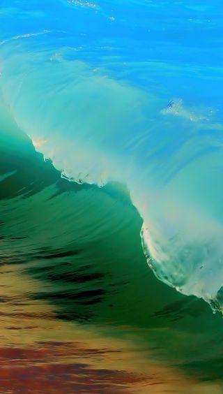 Обои на телефон яркие, элегантные, пляж, минимализм, волны, nougat