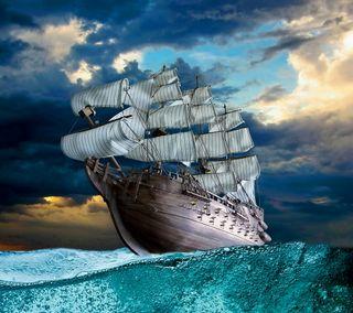 Обои на телефон парусные, корабли, море