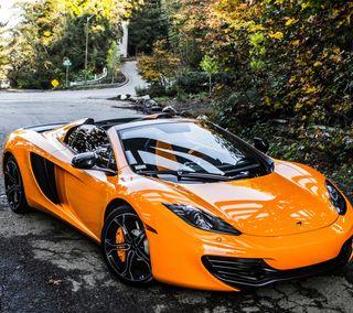 Обои на телефон транспорт, суперкары, паук, оранжевые, машины, макларен, orange car, mclaren mp4-12c spider, mclaren mp4-12c