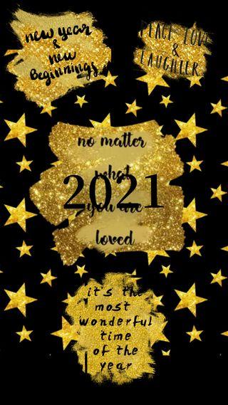 Обои на телефон праздновать, праздник, новый, золотые, 2021