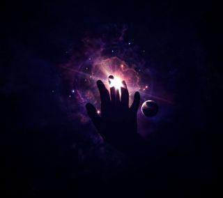Обои на телефон фиолетовые, удивительные, рука, вселенная, amazing hand