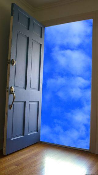 Обои на телефон небеса, небо, дверь, la puerta de alcala