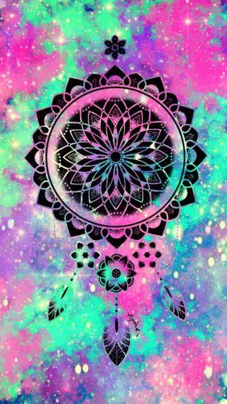 Обои на телефон мандала, перья, ловец снов, абстрактные, multicolour