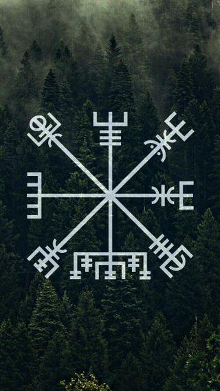 Обои на телефон nordic, 2018, vegvisir, nordico, brujula, nordica, vikingo, vikingos, викинги, викинг