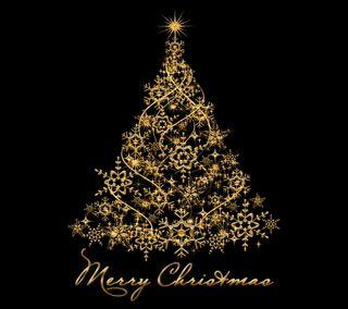 Обои на телефон снежинки, счастливое, рождество, золотые, дерево, xmas tree by marika, by marika