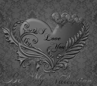 Обои на телефон валентинка, фон, серые, сердце, любовь, valentine heart, love, heart grey background