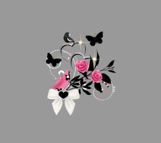 Обои на телефон птицы, дизайн, бабочки, аниме