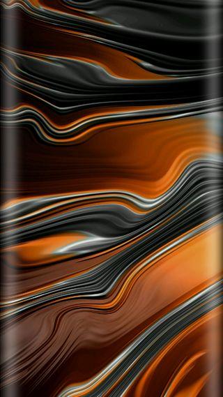 Обои на телефон полосы, черные, оранжевые, грани, волна, абстрактные, bends, 3д, 3d