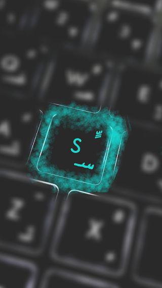 Обои на телефон letter s on keyboard, синие, цветные, буквы, клавиатура