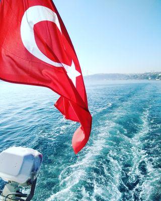 Обои на телефон стамбул, турецкие, пейзаж, вид, turkbayragi, deniz, bogaz