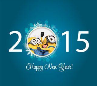 Обои на телефон год, счастливые, новый, миньоны, милые, бой, happy, argue, 2015