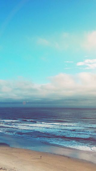 Обои на телефон природа, пляж, океан, облака, небо, вспышка, 1080p