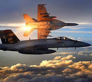 Обои на телефон хорнет, самолет, супер, закат, военные, f-18 super hornet, f-18