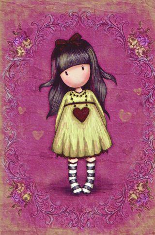 Обои на телефон лук, симпатичные, сердце, розовые, платье, милые, красые, зеленые, девушки, santoro, pretty girl, gorjuss