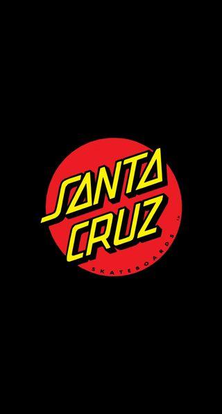 Обои на телефон скейтборд, санта, santa cruz