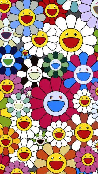 Обои на телефон цветы, смайлики, vans, murakami, gshock