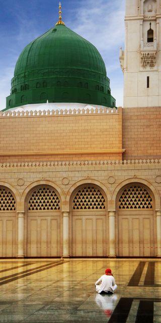 Обои на телефон madinah, masjid nabawi, masjid rasulullah, medina, masjid an nabawi, ислам, мечеть, саудовская, город