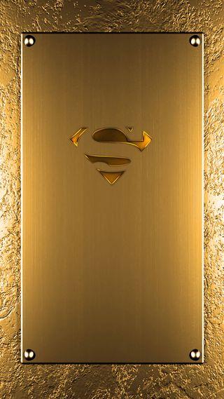 Обои на телефон супермен, логотипы, золотые, supergold