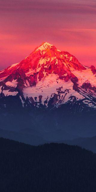 Обои на телефон горы, пейзаж, красые