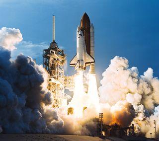 Обои на телефон ракета, корабли, космос, дым, shuttle