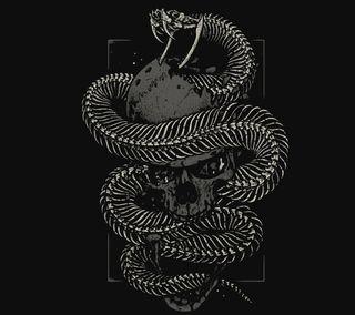Обои на телефон змея, череп, фон, дизайн, абстрактные, snake and skull