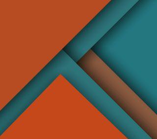 Обои на телефон плоские, оранжевые, материал, дизайн, бирюзовые, андроид, material 014, lollipop, android