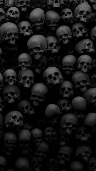 Обои на телефон демон, черные, череп, ужасы, смерть