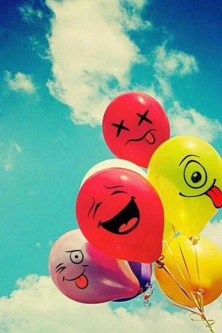 Обои на телефон пастельные, я, шары, счастливые, коты, день рождения, happy