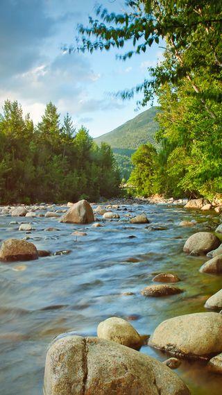 Обои на телефон ручей, река, вода