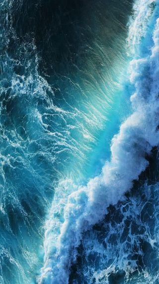 Обои на телефон волна, синие, океан, море