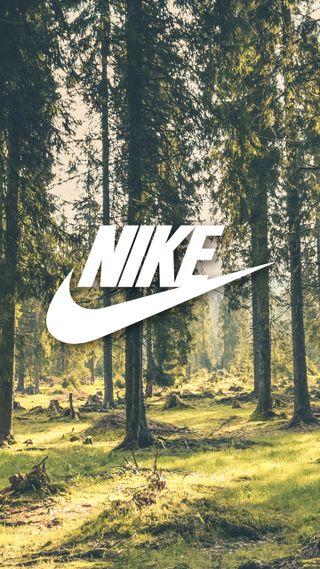 Обои на телефон просто, природа, оно, небо, найк, логотипы, лес, зеленые, дерево, бренды, nike, just do it
