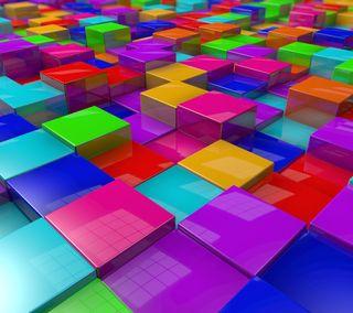 Обои на телефон случайные, цветные, кубы, куб, sirpcv
