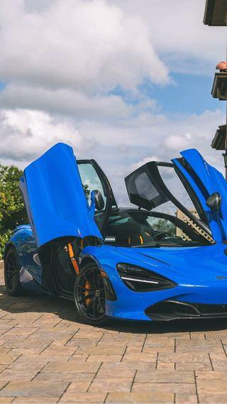 Обои на телефон гиперкар, суперкары, спортивные, синие, новый, машины, макларен, америка, mclaren, 720s