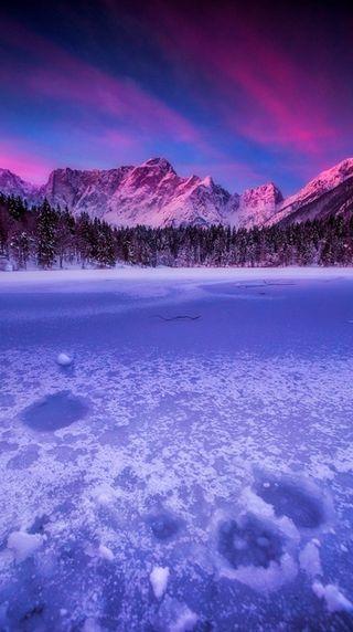 Обои на телефон лед, цветные, огонь, небо, зима, winter color