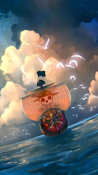 Обои на телефон one, piece, аниме, корабли, пираты