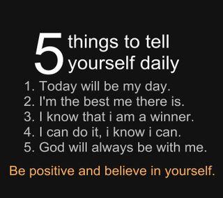 Обои на телефон daily, five, крутые, новый, бог, день, верить, дела, позитивные, победитель