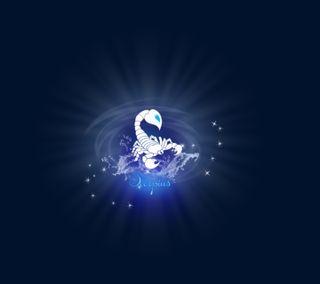 Обои на телефон скорпион, синие, логотипы, scorpio