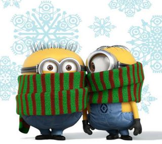 Обои на телефон холод, я, миньоны, милые, зима, scarf