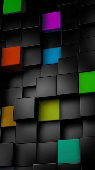 Обои на телефон кубы, цветные, абстрактные, color cubes, 3д, 3d color cubes, 3d