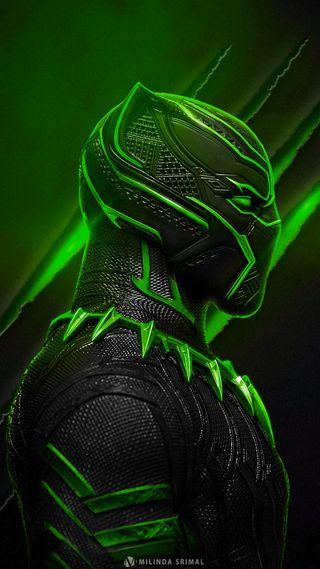 Обои на телефон супергерои, черные, супер, пантера, зеленые, герой