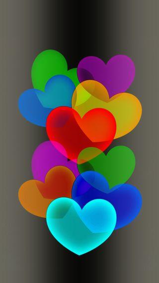 Обои на телефон романтика, сердце, мульти, любовь, love, heart multi