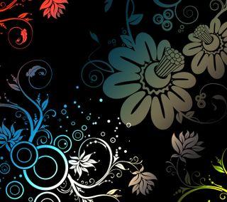 Обои на телефон цветы, дизайн, абстрактные