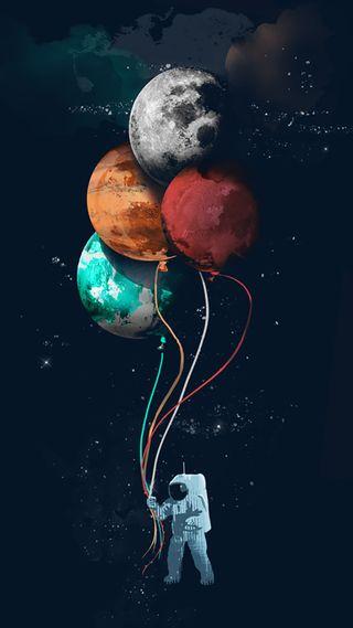 Обои на телефон шары, планеты, небо, космос, звезды, абстрактные, s7, cosmonaut