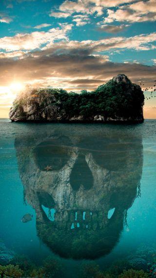 Обои на телефон пираты, остров, океан, вода, 4k pirate island, 4k