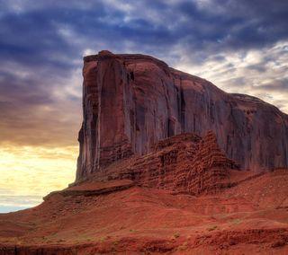 Обои на телефон пустыня, рок, закат, долина, горы, monument