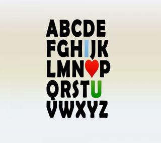 Обои на телефон любовь, abcd of love, 2160x1920