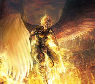 Обои на телефон фантастические, мир, меч, крылья, воин, броня, ангел, fantastic world