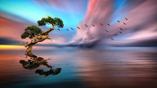 Обои на телефон фантазия, природа, прекрасные, пейзаж, арт, hd, art