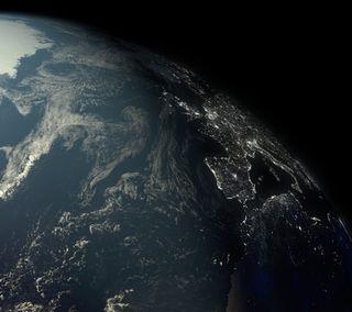 Обои на телефон планета, темные, земля