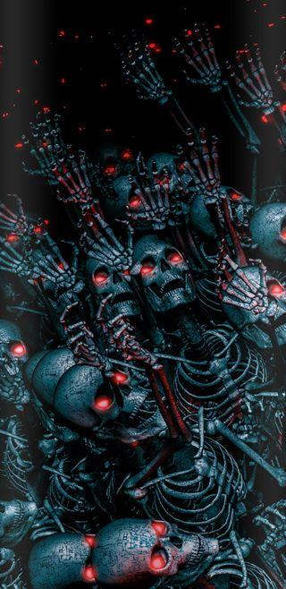 Обои на телефон зло, череп, террор, страшные, скелет, планета, война, planet of terror